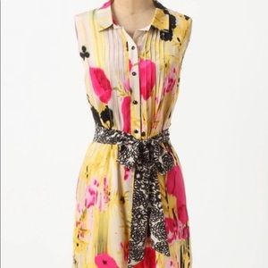 Anthropologie Tabitha Silk Aubrieta Dress
